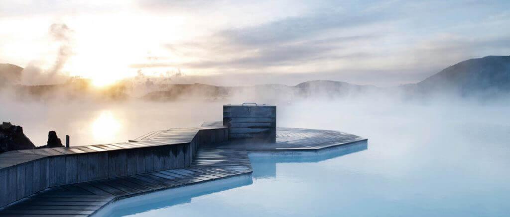 תמונה של בלו לגון באיסלנד